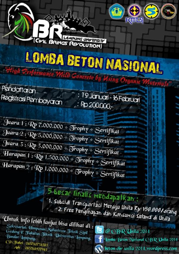 LOMBA BETON NASIONAL CBR UNILA 2014